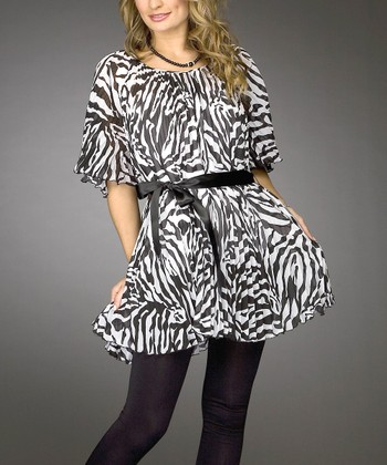 Black & White Zebra Tunic - Women & Plus