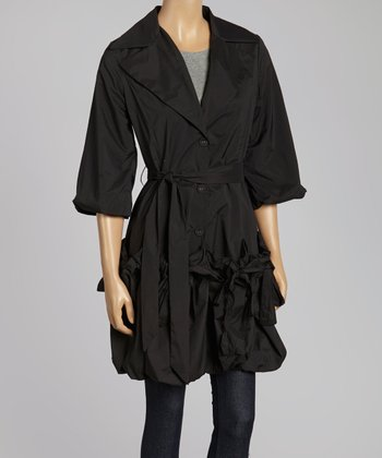 Black Belted Classic Jacket - Women & Plus