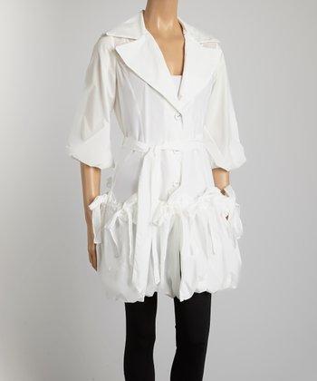 White Belted Classic Jacket - Women & Plus