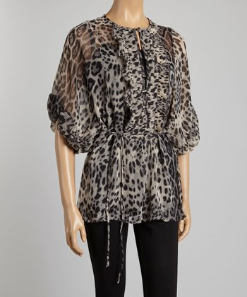 Leopard & Gray Animal Top - Women & Plus