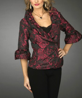 Fuchsia & Black Jacket - Women & Plus
