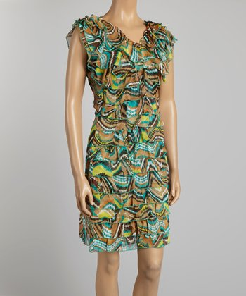 Brown Ruffle Dress - Women & Plus