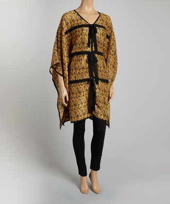 Gold Poncho - Women & Plus