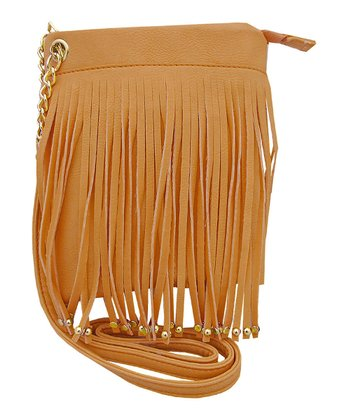 Beige Fringe Handbag
