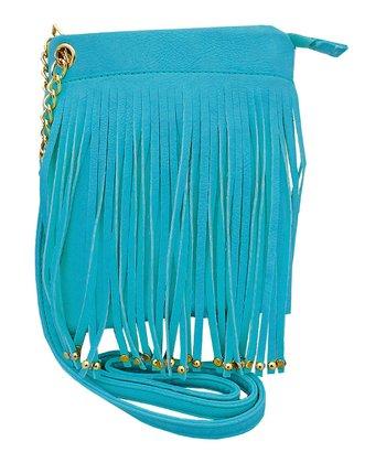 Blue Fringe Handbag