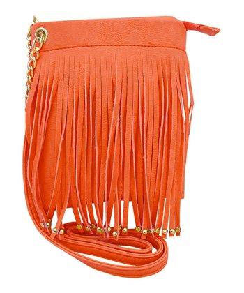 Coral Fringe Handbag