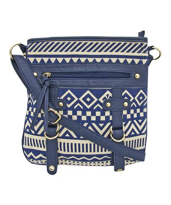 Navy Geometric Handbag
