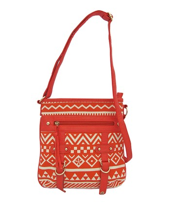 Red Geometric Handbag