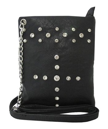 Black Rhinestone Crossbody Bag
