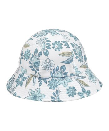 Turquoise Floral Bucket Hat