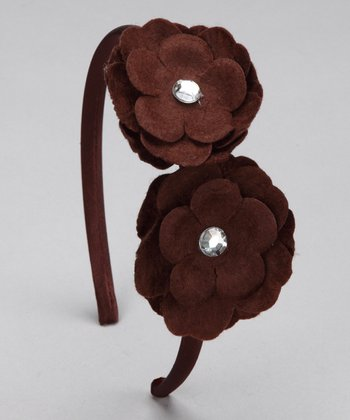 Brown Felt Flower Headband