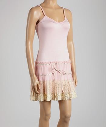 Young Essence Pink & Yellow Sleeveless Dress