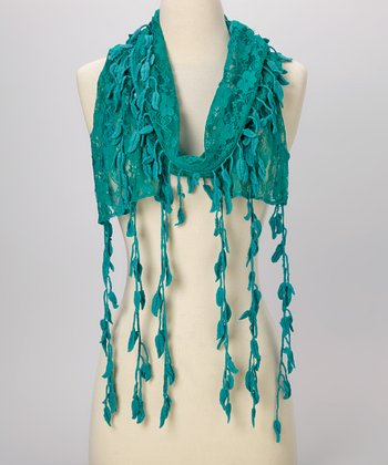 Young Essence Green Leaf Lace Scarf