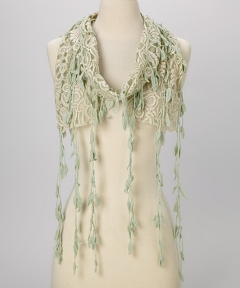 Young Essence Blue Leaf Lace Scarf