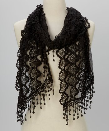 Young Essence Black Lace Scarf