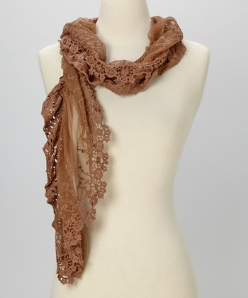 Young Essence Taupe Lace Scarf