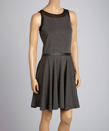 Saga Gray & Black Sleeveless Dress