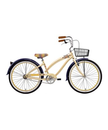 Cream & Navy Blue Paul Frank Skurvy Women's Cruiser Bicycle