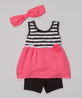 Pogo Club Bright Pink Bianca Tank Set - Infant