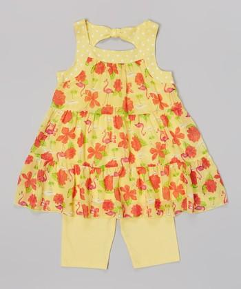 Pogo Club Medium Yellow Jessica Top & Shorts - Infant, Toddler & Girls