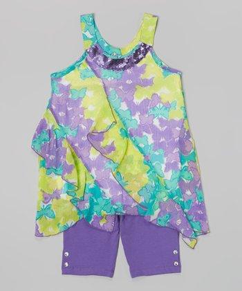 Pogo Club Dark Purple Tillie May Top & Shorts- Infant, Toddler & Girls