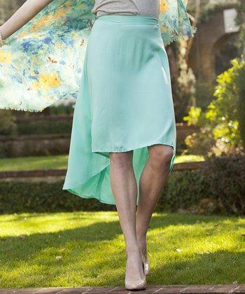 Turquoise Hi-Low Magnolia Skirt