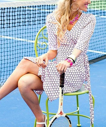 White The Advantage Wrap Dress