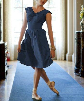 Navy Blue Lily A-Line Dress