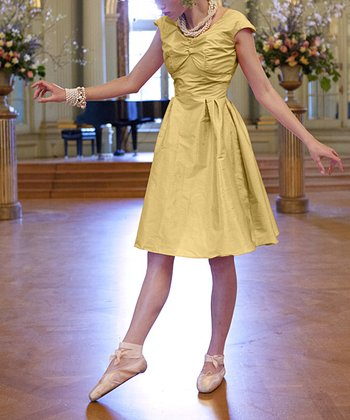 Yellow Lily A-Line Dress