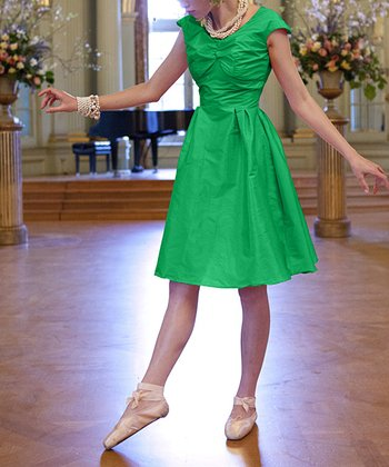Green Lily A-Line Dress