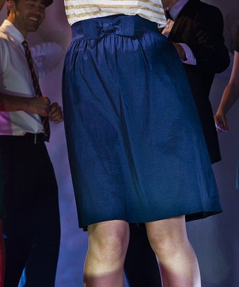 Navy Bow Little Suzie Skirt