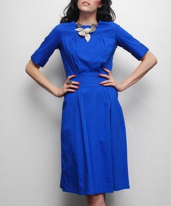 Blue Upper East Side A-Line Dress