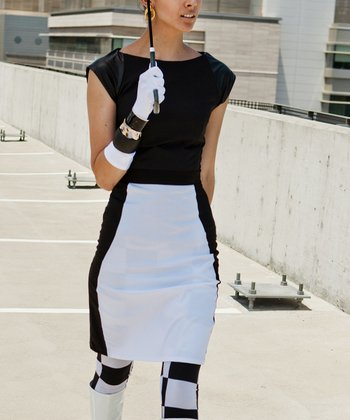 White Daydream Believer Pencil Skirt