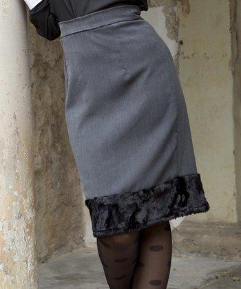 Gray Speyside Pencil Skirt