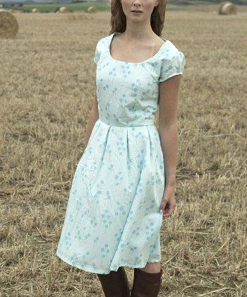 Aqua Blue Nessie A-Line Dress