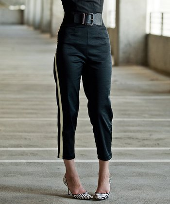 Black Walk On By Cropped Pants