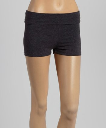 Charcoal Fold-Over Shorts