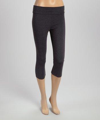 Charcoal Capri Yoga Pants