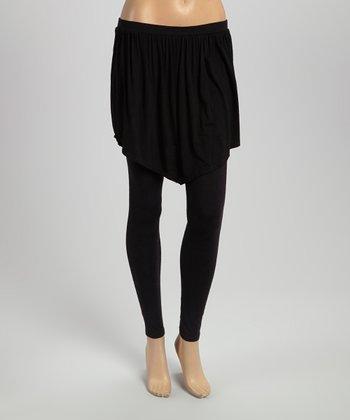 Black Skirted Yoga Pants