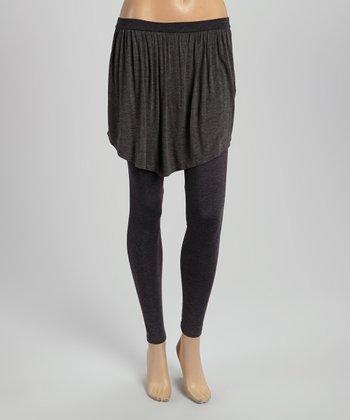 Charcoal Skirted Yoga Pants