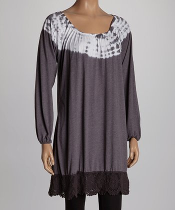 Charcoal Ombré Boatneck Tunic