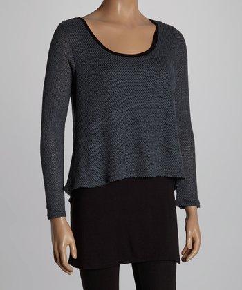 Charcoal & Black Layered Tunic