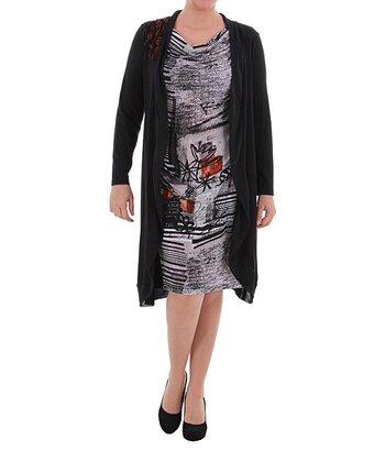 Black Layered Dress - Plus
