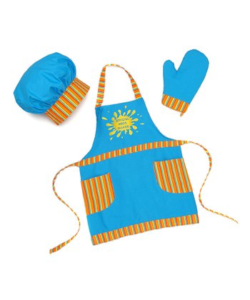 Blue & Yellow 'Official Mess Maker' Apron Set - Toddler & Kids