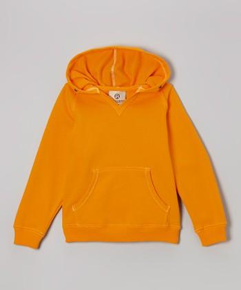 Tangerine V-Neck Hoodie - Kids