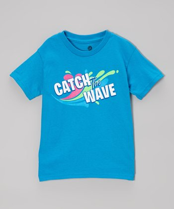 Turquoise 'Catch the Wave' Tee - Boys