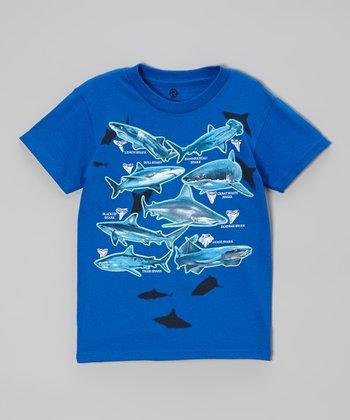 Royal Shark Teeth Tee - Boys