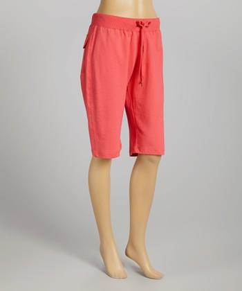 Bright Coral Lifestyle Shorts - Women & Plus