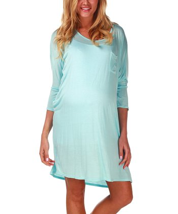 PinkBlush Maternity Light Blue Maternity Nightgown