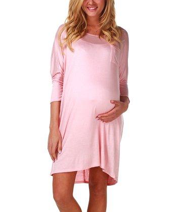 PinkBlush Maternity Pale Pink Maternity Nightgown